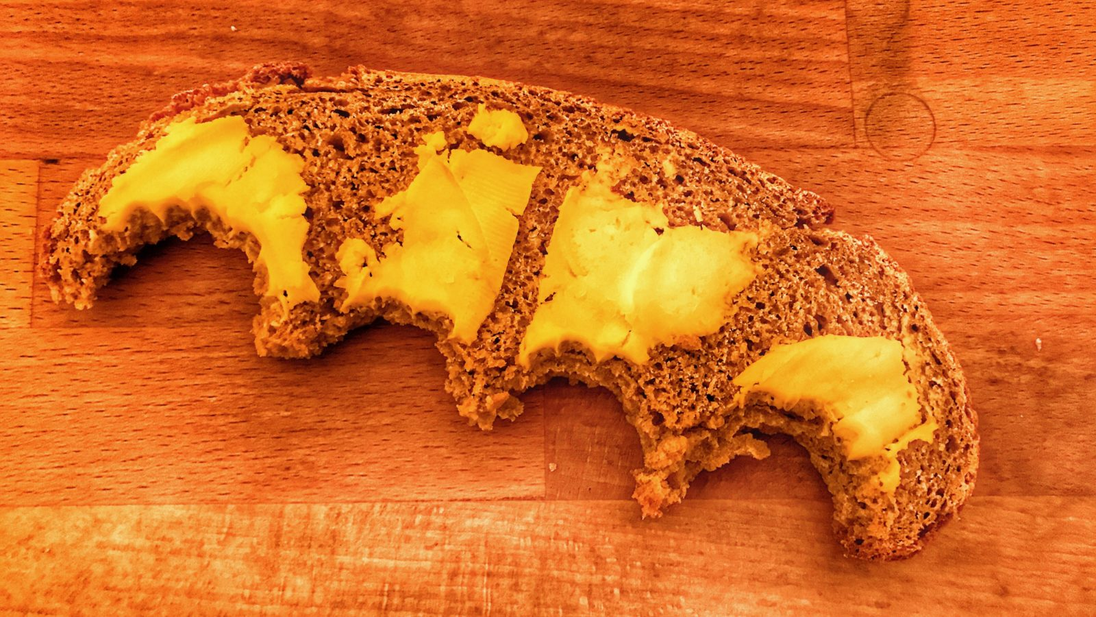 Butter bite of sourdough