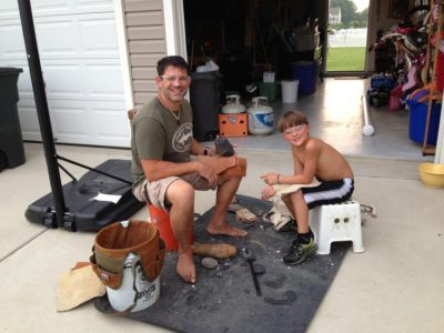 Flintknapping with Billy