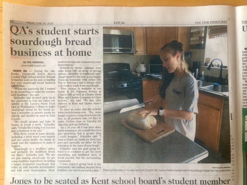 Brianna newspaper article