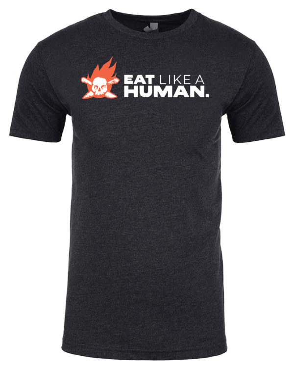 Eat Like A Human Charcoal Short Sleeve