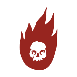 Fire logo with skull