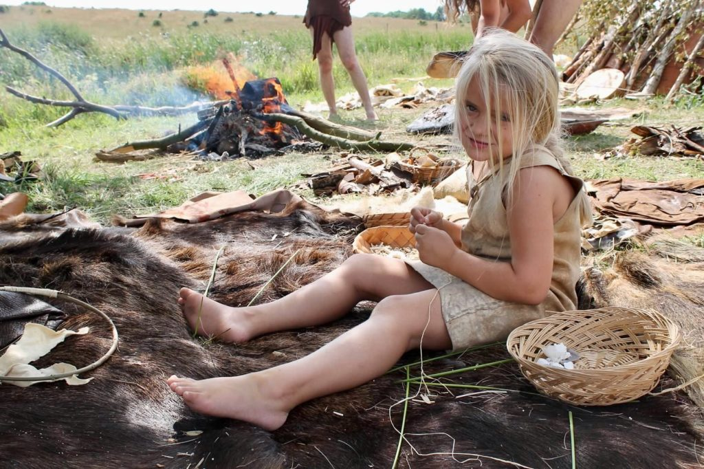 Alyssa Living in a stone age village in Denmark