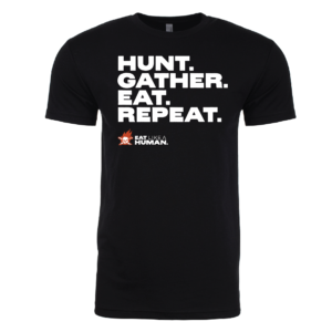 Hunt Gather Eat Repeat tshirt in Black