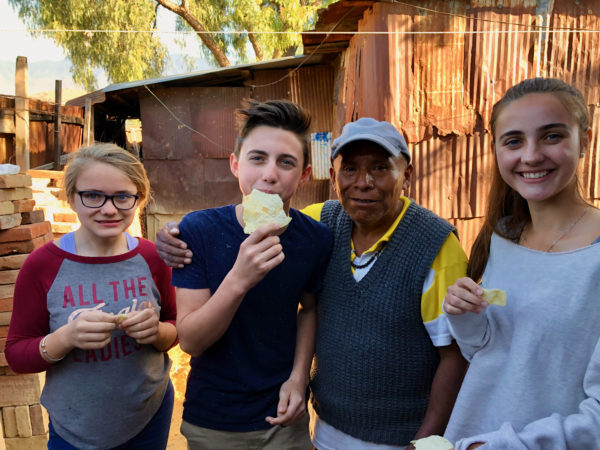 making tortillas with family in the mountains of Oaxaca